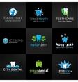 Set of dental logos tooth designs Teeth vector image