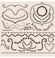 Floral Monochrome Design Laurels Wreaths Frame vector image