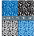 mobile service pattern vector image