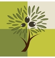 Olive tree background vector image