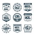 Recreational Vehicle Emblems vector image
