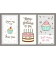 Set of postcards with hand lettering and sweet vector image