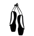 Black ballet pointe vector image