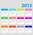 2015 calendar in Italian vector image vector image