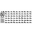 60 sneaker running shoes icons set simple style vector image