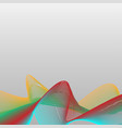 abstract colorful wave curve line background vector image vector image