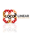 abstract flower or star linear thin line icon vector image