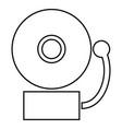 alarm schooll bell icon black color flat style vector image