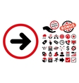 Arrow Right Flat Icon with Bonus vector image vector image