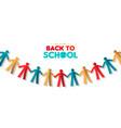 back to school banner papercut children garland vector image vector image