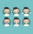 bearded man profile pics set of flat portraits vector image