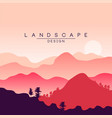 beautiful peaceful mountain landscape at sunset vector image vector image