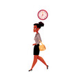 black african american businesswoman going to vector image vector image
