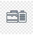 business concept linear icon isolated on vector image