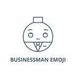 businessman emoji line icon businessman vector image vector image