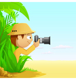 cartoon photographer vector image