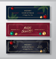 christmas banners abstract greeting vector image vector image