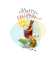 Christmas mulled wine vector image