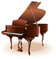 Classical grand piano vector image vector image