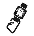 climb tool compass icon simple style vector image vector image