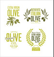 collections of olive oil labels vector image vector image