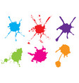 color paint splatter paint splatter set vector image