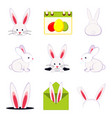 colorful cartoon easter bunny set vector image vector image