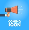 Coming soon banner vector image vector image