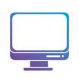 contour screen technology monitor design vector image vector image