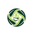 cup leaf logo design template vector image vector image