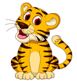 Cute baby tiger posing vector image