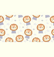 cute cartoon animal seamless pattern vector image