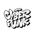 cyberpunk font in graffiti style vector image
