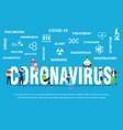 dangerous chinese ncov coronavirus sars pandemic vector image