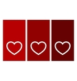 decorative hearts on red vector image