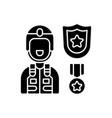 defence industry black glyph icon vector image