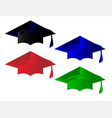 degree pass caps vector image vector image