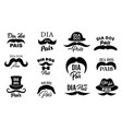 dia dos pais fathers day holiday icons vector image vector image