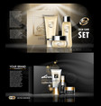 digital golden and black skin care cream vector image