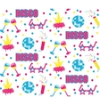 Disco club party seamless pattern vector image vector image