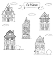 Doodle sketch House in a traditional european vector image vector image