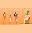 egypt mural cultural ancient characters painting vector image vector image