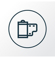 film icon line symbol premium quality isolated vector image vector image