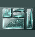 glass technology banners realistic micro circuit vector image
