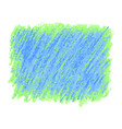 green and blue crayon scribble texture stain vector image
