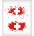 grunge ink splattered flag switzerland vector image vector image