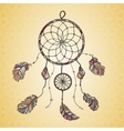 Hand drawn native Indian-American dream catcher vector image vector image