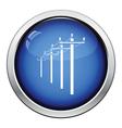 High voltage line icon vector image vector image