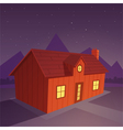 House in the Night vector image vector image