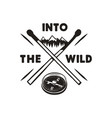 into the wild - outdoors adventure silhouette vector image vector image